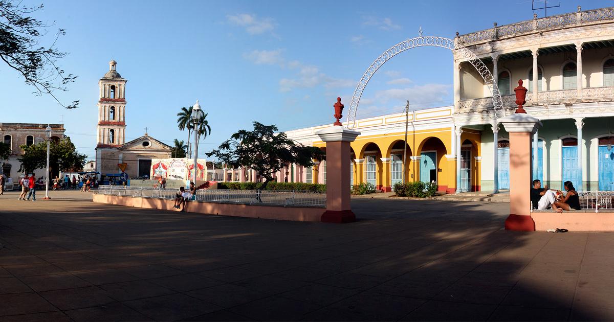 Plaza donde está el Museo Caturla