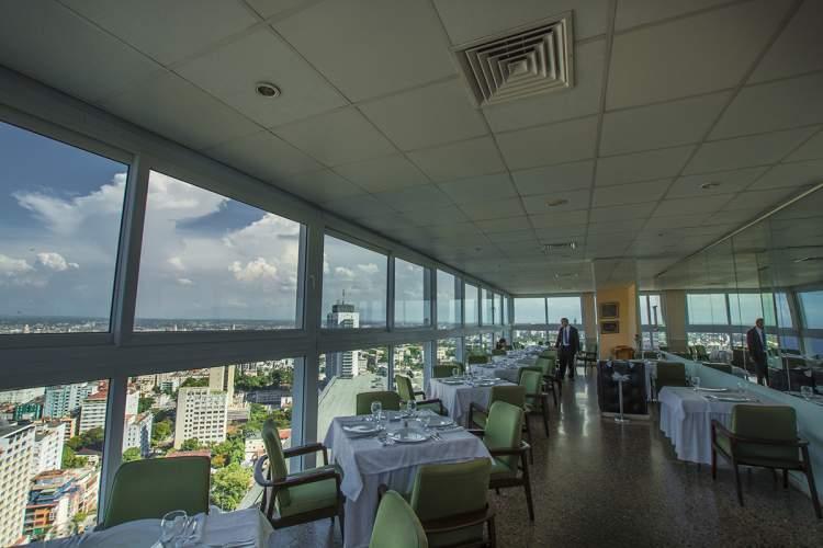 Vista desde el restaurat La Torre, ubicado en el último piso