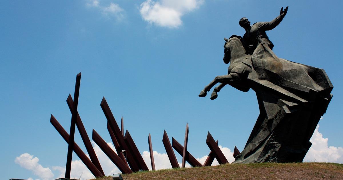 Estatua de Antonio Maceo, protagonista de la Protesta de Baraguá